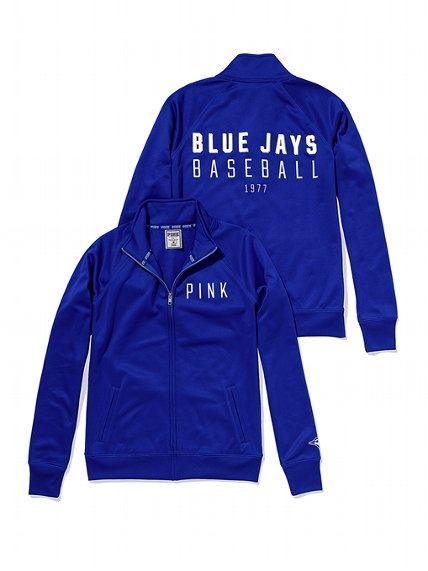 PINK Toronto Blue Jays Track Jacket #VictoriasSecret http://www.victoriassecret.com/pink/toronto-blue-jays/toronto-blue-jays-track-jacket-pink?ProductID=108851=OLS?cm_mmc=pinterest-_-product-_-x-_-x