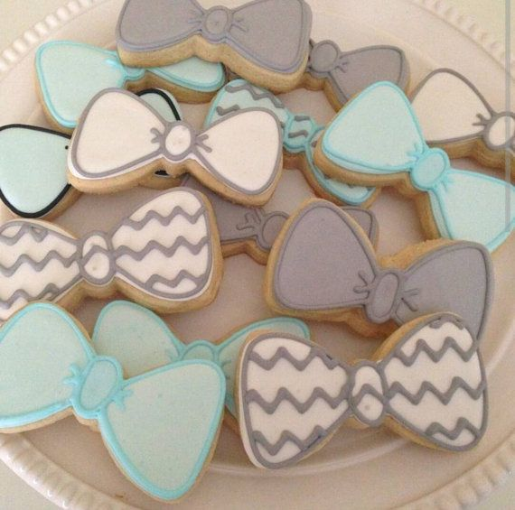 Bow Tie Cookies One Dozen Individually Bagged by MoMsterCookies