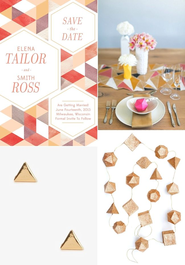 Geometric Wedding Ideas | Fly Away Bride