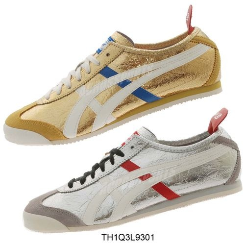 Asics Onitsuka Tiger Mexico 66 Gold Silver 2 Colors to Select from $99 99  and Up