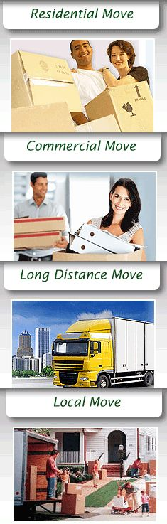 Moving Services: Residential Moves  Interstate Moves  Economical Prices  Packing Materials  Local Moves  Long Distance Moves  Furniture Assembly  Storage Services  Moving Trucks