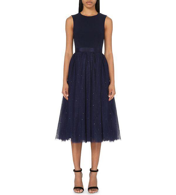 BRidesmaid dress for Faye!TED BAKER - Embellished crepe and tulle dress | Selfridges.com