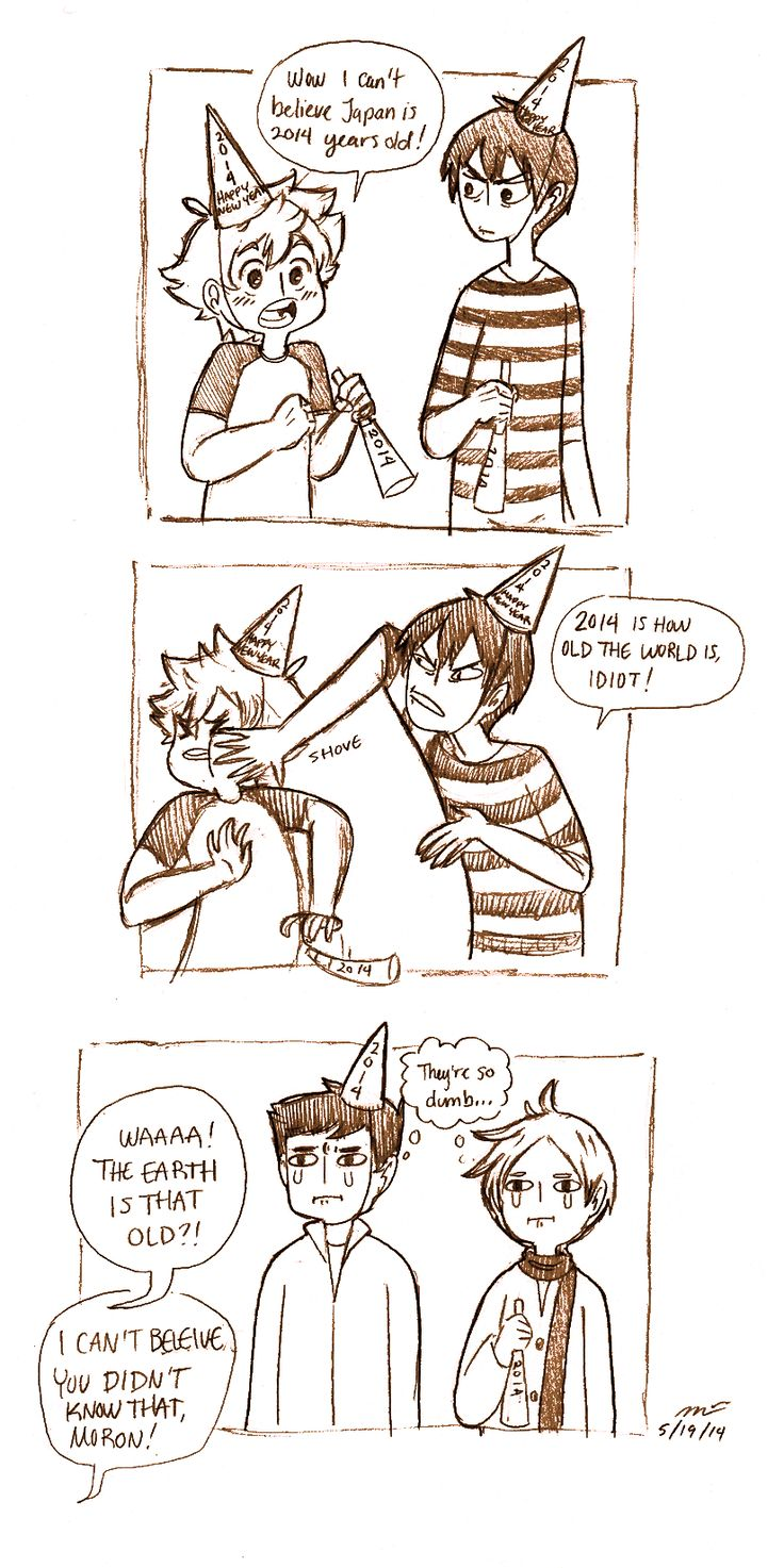 lissyfishy:  It warms my heart to know that both Hinata and Kageyama fail scholastically. Based on this post.Sequel to this comic