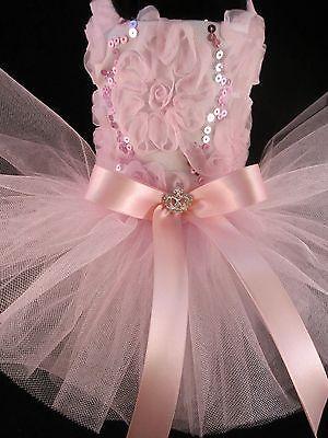 Día de San Valentín _ Couture Vestido Tutú Rosa Bailarina Perro XS _ nuevo vestido de perro