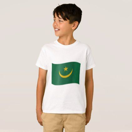 #Mauritania Flag T-Shirt - #country gifts style diy gift ideas