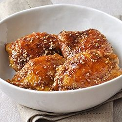 Cuisses de poulet, miel et sauce soja