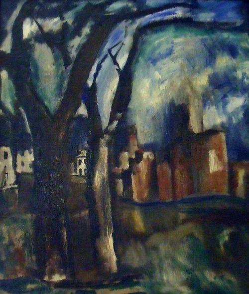 Mario Sironi (Italian, 1885-1961), Castello, 1929-30. Oil on canvas. Casa-Museo Boschi Di Stefano, Milan.