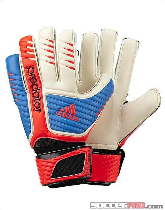 adidas Predator Competition Keeper Gloves - White with Bright Blue...$29.99