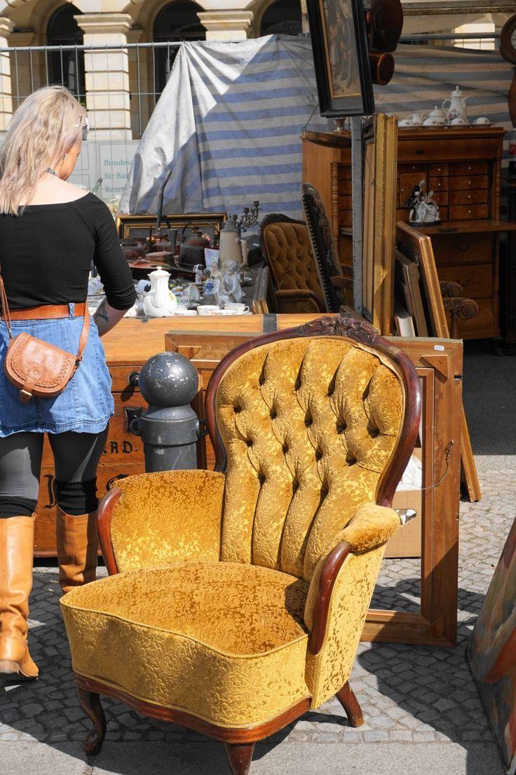 vintage chair from antiques flea market in berlin