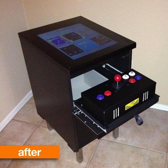 44 best images about video gaming on pinterest pinball for Cocktail tables diy
