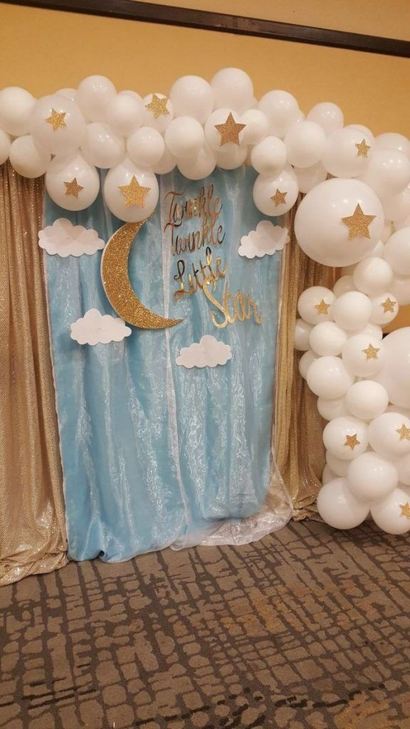 Twinkle Twinkle Little Star Baby Shower Decoration Ideas from i.pinimg.com