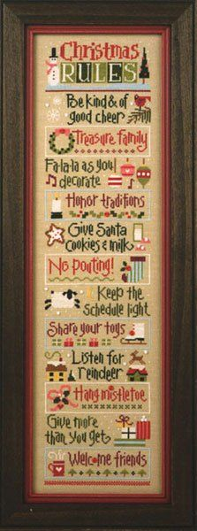 Christmas Rules-looks like something gramma would make...                                                                                                                                                                                 More