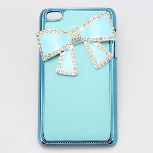 justice ipod cases for girls | ... bling-blue-leather-bow-girl-diamond-case-cover-FOR-ipod-touch-4-4g-4th