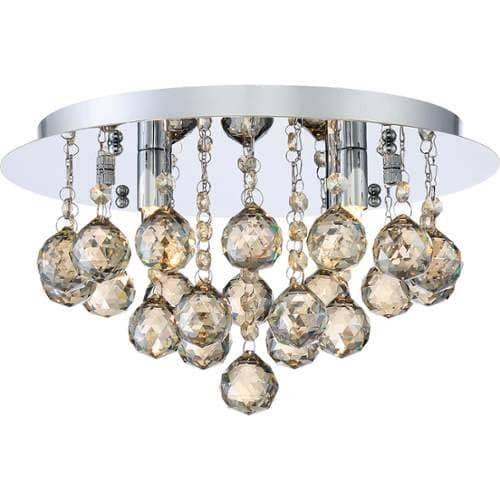 Platinum BRXA1614 Bordeaux 4 Light 14 Wide Flush Mount Ceiling Fixture with Cry, Silver