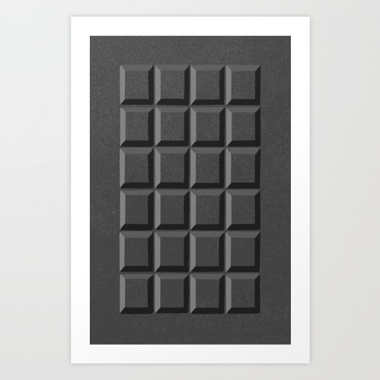 Collect your choice of gallery quality Giclée, or fine art prints custom trimmed by hand in a variety of sizes with a white border for framing. https://society6.com/product/50-shades-of-choc_print?curator=wellglow