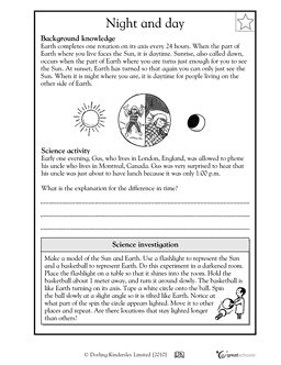 Night here, day there - Worksheets & Activities | GreatSchools