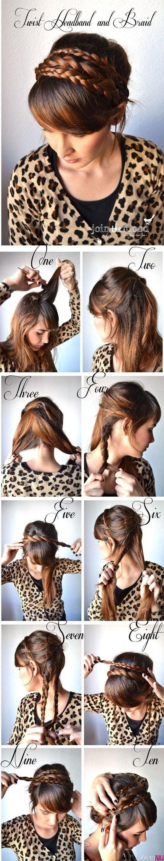 Twist headband and braid #DIY
