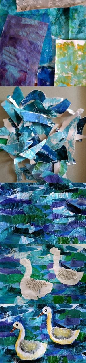 Painted Paper Art, inspired by Eric Carle - LilCreativeKids