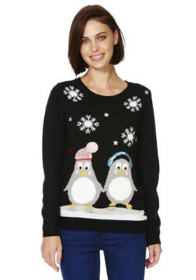 Fab novelty penguin jumper from Tesco. Has flashing lights and shiny bits!!