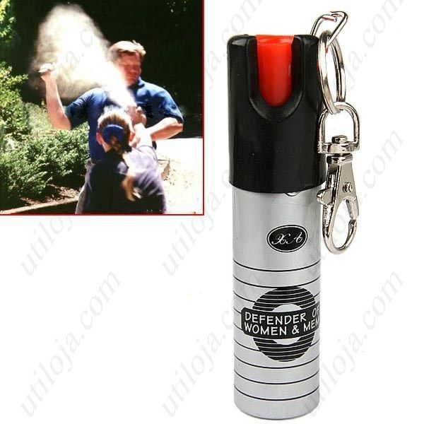 Spray gás pimenta auto-defesa porta-chaves