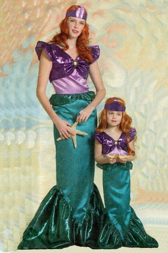 For any aspiring mermaid, here is the perfect costume Comes with a dress and crown No two costumes are exactly alike. Ill use the best fabrics I can find at the time of your order. Great for Halloween, theater, plays, or just dressing up  This modest one-piece dress Costume has contrasting bodice overlay, armhole ruffles and a fish tail bottom. It does not fit too tightly at the ankles, so walking isnt a problem. Made with costume satins and whatever sparkly fabric I can find when you…
