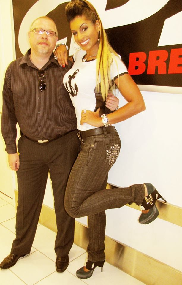 Michael Burca of Zalin Shoes Chillin with Farahri at CP24
