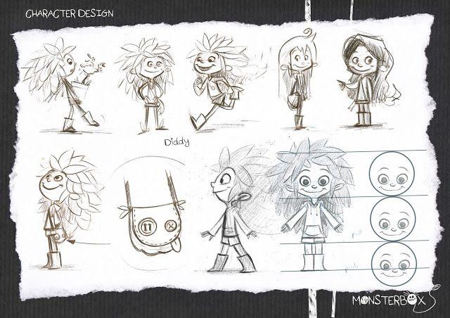 Character Design Examples : Monsterbox animação de alunos do bellecour da frança
