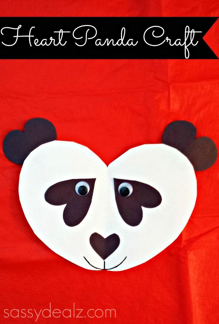 Panda bear heart craft for kids - Sassydeals com ...