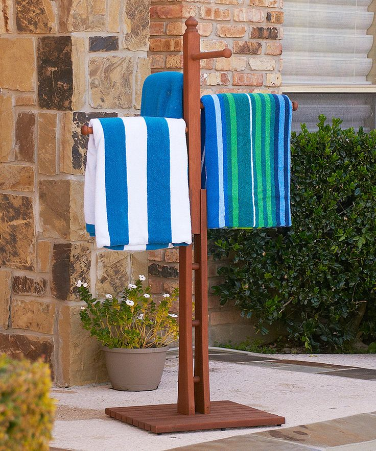 Pool Towel Sign With Hooks: 17 Best Ideas About Towel Rack Pool On Pinterest