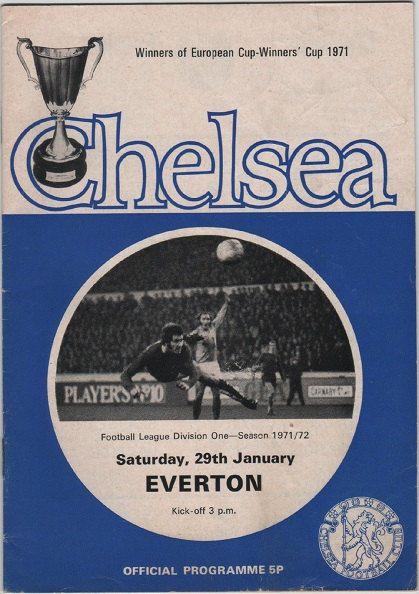 Football Programme  Chelsea v Everton
