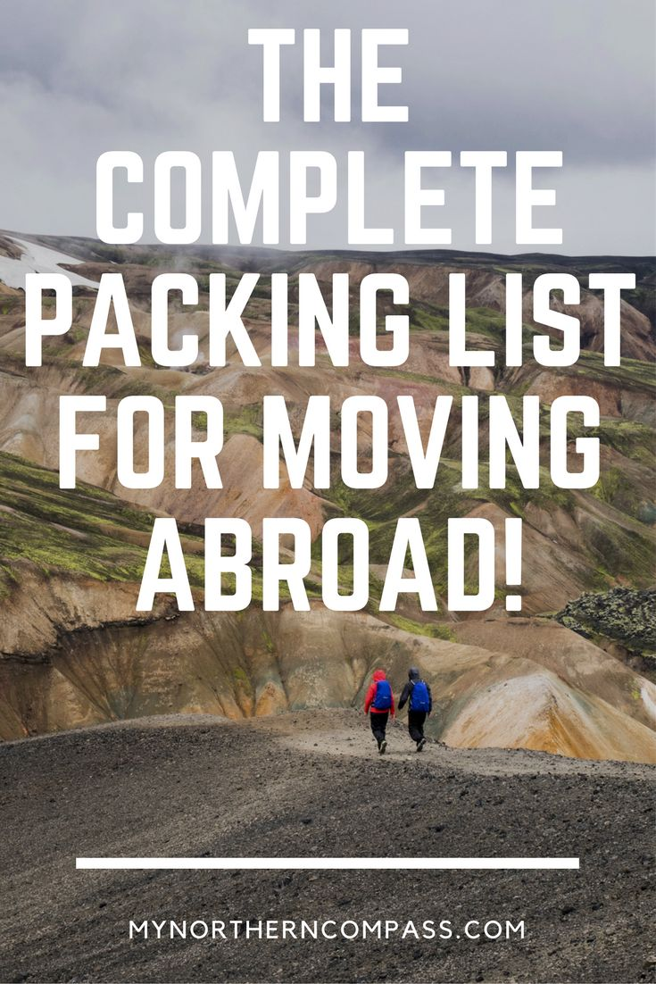Packing for a whole year can be overwhelming but this complete packing list for moving abroad will help you prepare for your trip!