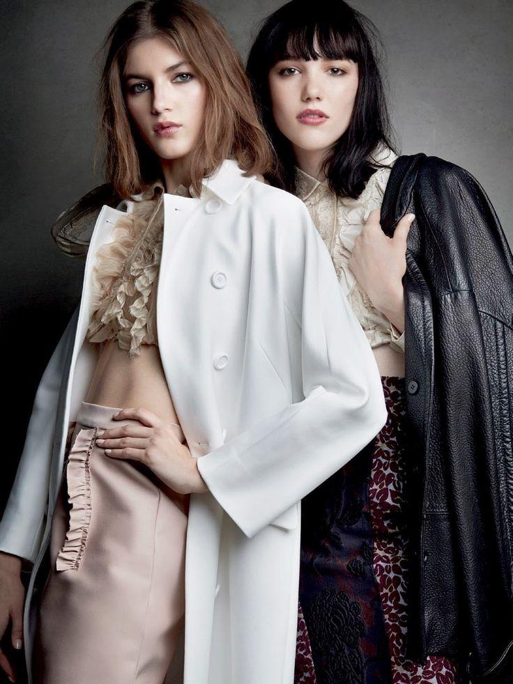 Valery, Anya et Rose photographiées par Patrick Demarchelier pour Vogue Russie mars 2015 | INSPIRATIONS - EXPIRATIONS
