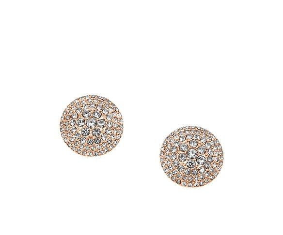 Glitz Rose Gold Stud Earrings
