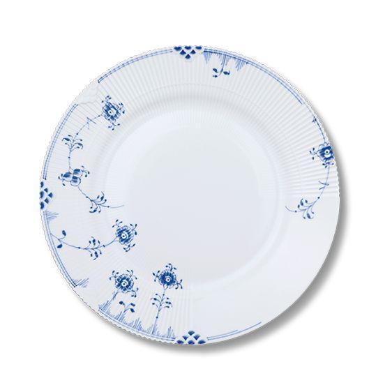 Blå Elements - (kage-)/Frokosttallerken 21 cm