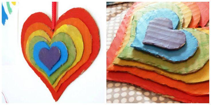 Vyrobte si s deťmi pestrofarebné srdce, ktoré poteší a navyše skrášli vašu stenu