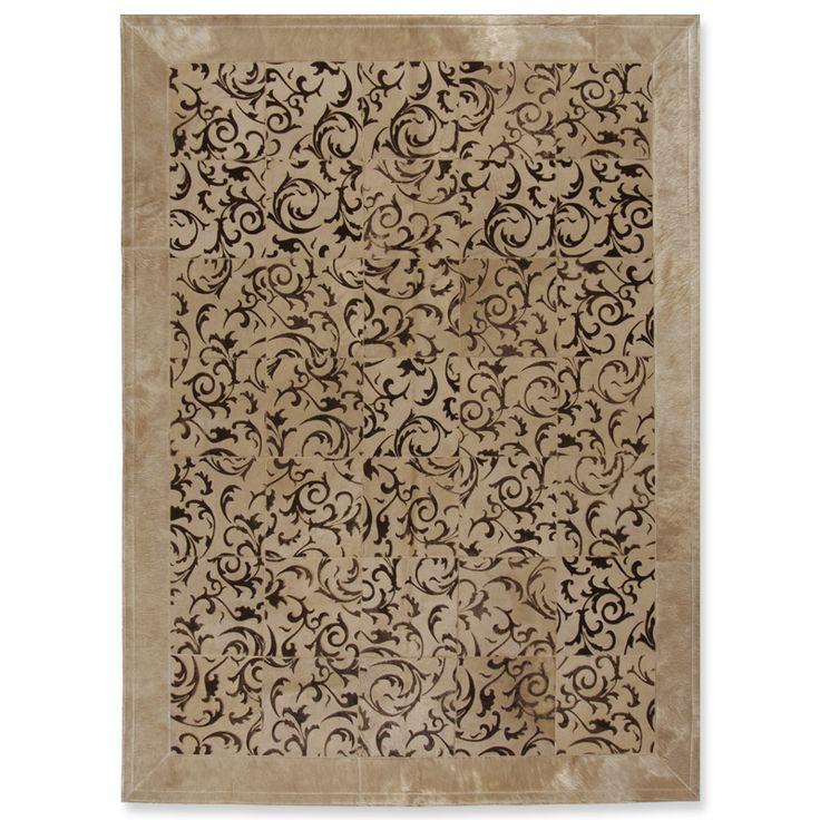 Δερμάτινο χαλί με μπαρόκ σχέδιο, 20αρι πλακάκι και φάσα, επιθυμητή διάσταση