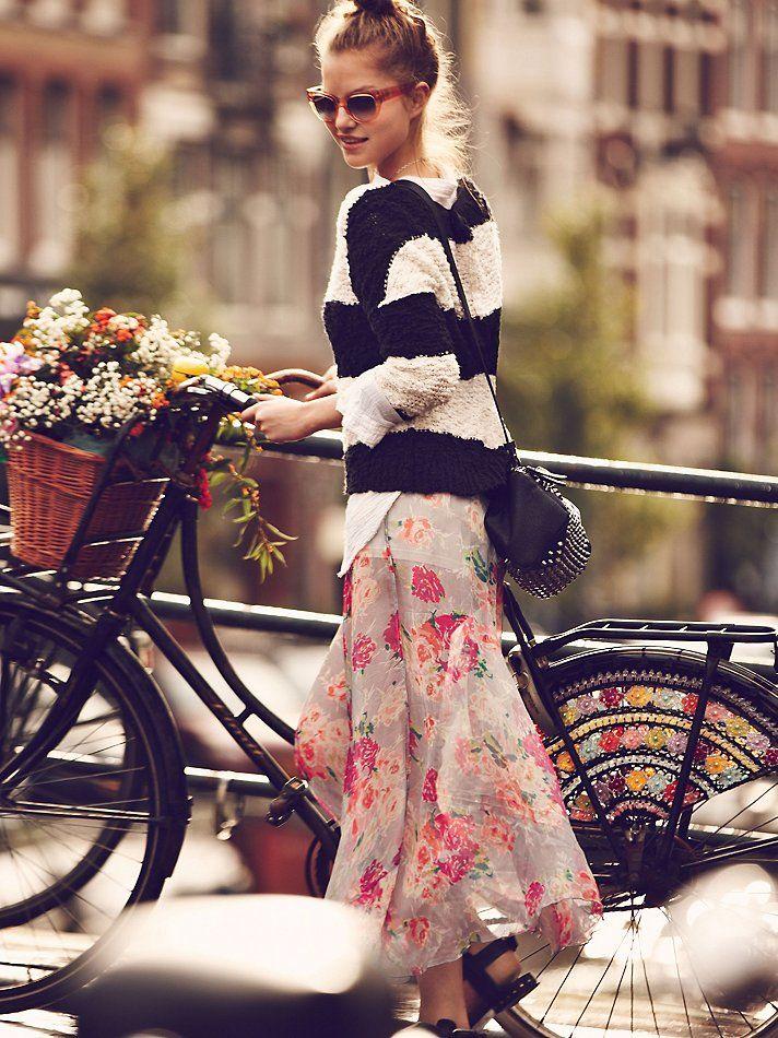 floreal long skirt