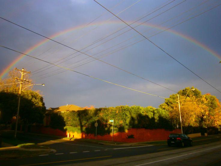 Rainbow in Melb