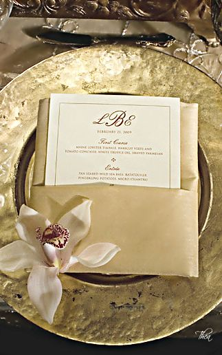 Spectacular Entertaining Events| Serafini Amelia| Wedding Styling-Wedding Place Setting ● Golden Opulence