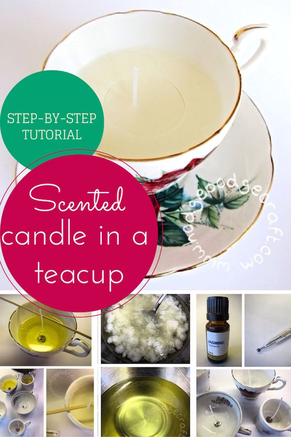 Make It: Vintage Teacup Scented Candles - Tutorial #home