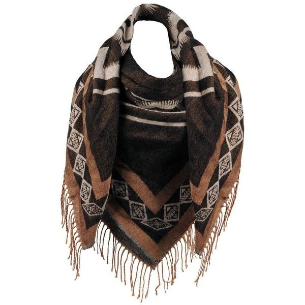 Wilsons Leather Oblong Aztec Scarf ($35) ❤ liked on Polyvore featuring accessories, scarves, wilsons leather, long scarves, aztec scarves, long shawl and oblong scarves