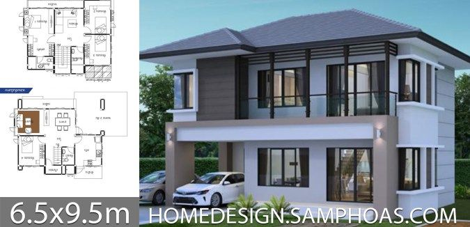 House Ideas 6 5x9 5m With 4 Bedrooms Home Ideas House House Floor Plans Architecture