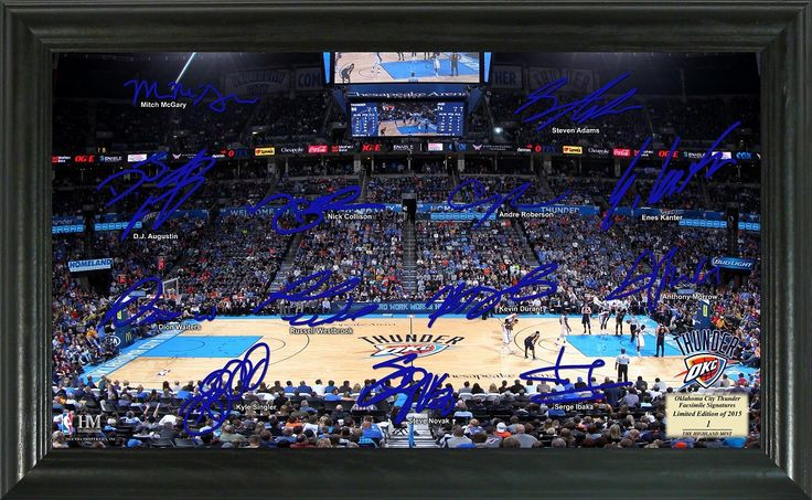MyTeamPrints.com - Oklahoma City Thunder Team Signature Framed Picture, $69.99 (https://www.myteamprints.com/oklahoma-city-thunder-team-signature-framed-picture/)