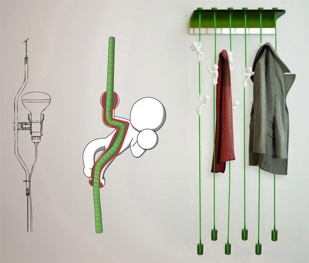 """MagicBeans"" Coat Hanger by Massimo Battaglia » Yanko Design"