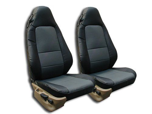 BMW Z3 Not M Series Black Charcoal Artificial Leather Custom Fit Front Seat