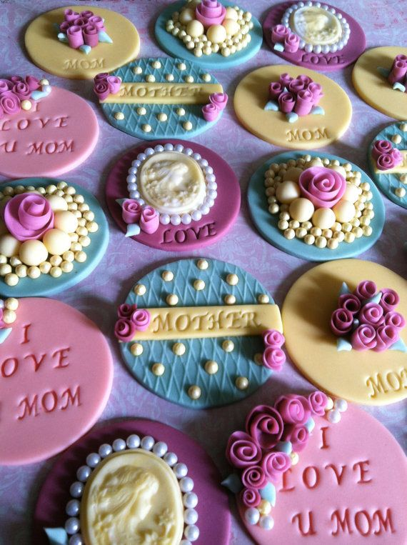 Victorian vintage cupcake/cookie toppers by CakesbyAngela on Etsy