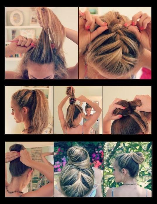French Braid Bun Hairstyle | hairstyles tutorial