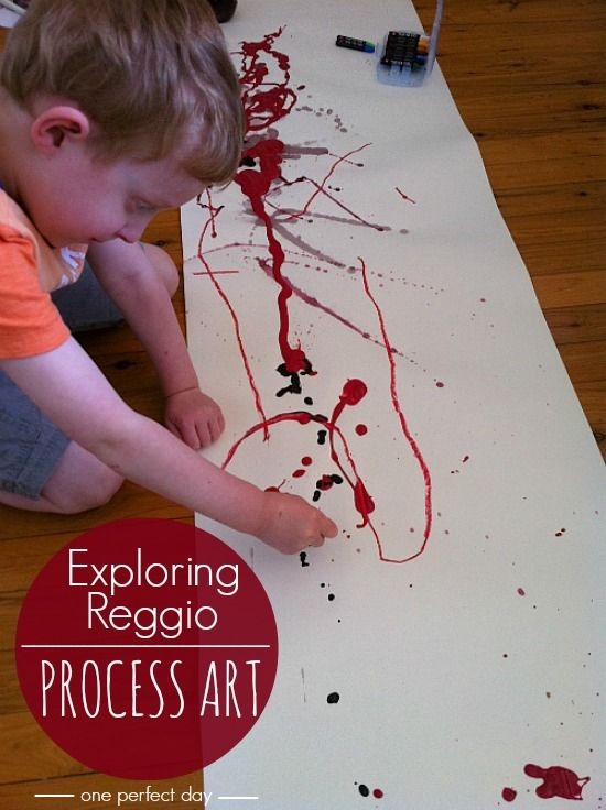 Reggio Inspired Process Art - One Perfect Day