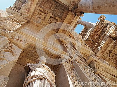 The Library of Celsus, an ancient roman building in Ephesus Izmir,Turkey
