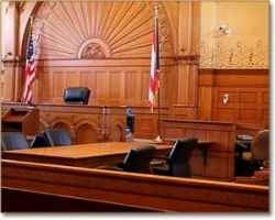 Criminal defense court room